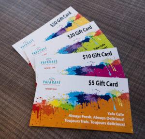 Yafa Café gift cards